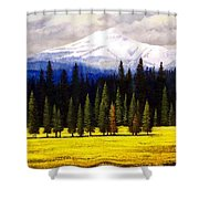 Spring Meadow Mount Brokeoff Shower Curtain