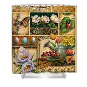 Spring Montage Shower Curtain