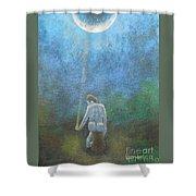 Spring Moonbeam Shower Curtain