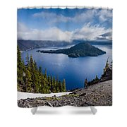 Spring Morning At Discovery Point Shower Curtain