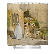 Spring Morning At Montmartre Shower Curtain by Childe Hassam