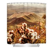 Spring Mountain Blossoms Shower Curtain