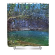 Spring Of The Summer Sky Shower Curtain