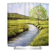 Spring On The Canal Shower Curtain