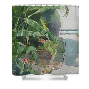 Spring Palms Shower Curtain