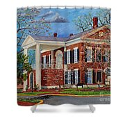 Spring Planting At The Dahlonega Gold Museum Shower Curtain