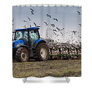 Spring Ploughing Shower Curtain