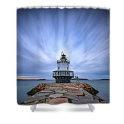 Spring Point Ledge Light Station Shower Curtain