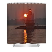Spring Point Ledge Sunrise Shower Curtain
