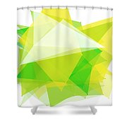 Spring Polygon Pattern Shower Curtain