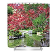 Spring Pond Reflection Shower Curtain