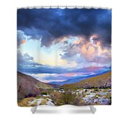 Spring Rain At Whitewater Canyon Shower Curtain
