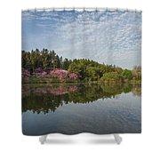 Spring Redbud Trees Shower Curtain