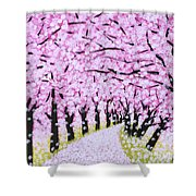 Spring Road  Shower Curtain