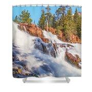Spring Runoff At Glen Alpine Falls Shower Curtain