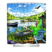 Spring Serenity At Lakeside Shower Curtain