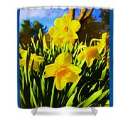 Spring Series Painting Shower Curtain