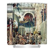 Spring Shower Curtain by Sir Lawrence Alma-Tadema