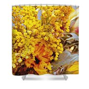 Spring Sky Bouquet Shower Curtain