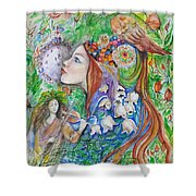 Spring Song Shower Curtain