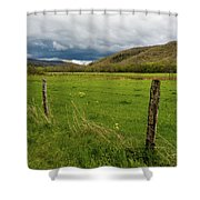 Spring Storm Clouds Shower Curtain