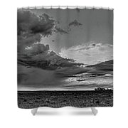 Spring Storm Front In Black And White Shower Curtain
