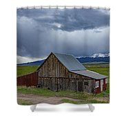 Spring Storm Looms Above The Wet Mountain Valley Shower Curtain