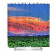 Spring Storm Over Wausau Shower Curtain