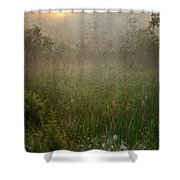 Spring Sunrise In The Valley Shower Curtain by Dale Kincaid