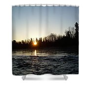 Spring Sunrise Over Mississippi River Shower Curtain