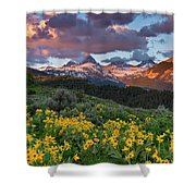 Spring Sunset In The Tetons Shower Curtain