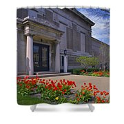 Spring Time At The Muskegon Museum Of Art Shower Curtain