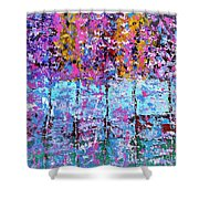 Spring Time In The Woods Abstract Oil Painting Shower Curtain