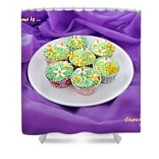 Spring Time Is Cupcake Time Shower Curtain