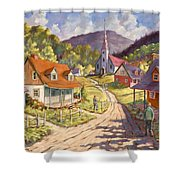 Spring Time Sun Shower Curtain