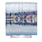 Spring Time Waterfront Shower Curtain