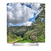Spring Trail In The Canyon Shower Curtain