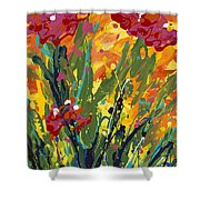 Spring Tulips Triptych Panel 1 Shower Curtain