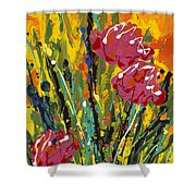 Spring Tulips Triptych Panel 2 Shower Curtain