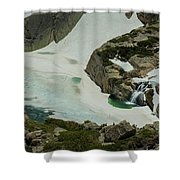 Spring Waterfall Arial Shower Curtain