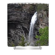 Spring Waterfall At Petit Jean Shower Curtain