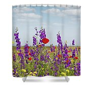 Spring Wild Flowers Meadow Shower Curtain