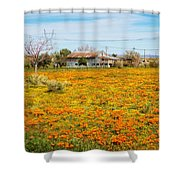 Spring Wildflower Farm Shower Curtain