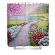 Spring Shower Curtain by William H RaVell III