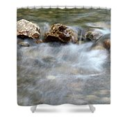 Spring With Rocks Nature Scene Shower Curtain