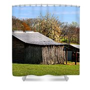 Spring Woods And Barn Shower Curtain