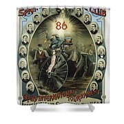 Springfield Bicycle Club 1886 Shower Curtain