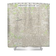 Springfield Missouri Us City Street Map Shower Curtain