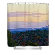 Springfield New Hampshire Mountain Veiw Fall Colors Shower Curtain