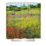Spring's Floral Quilt Shower Curtain